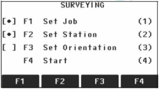 Màn hình đo khảo sát ( Survey của Leica Flexline TS02_