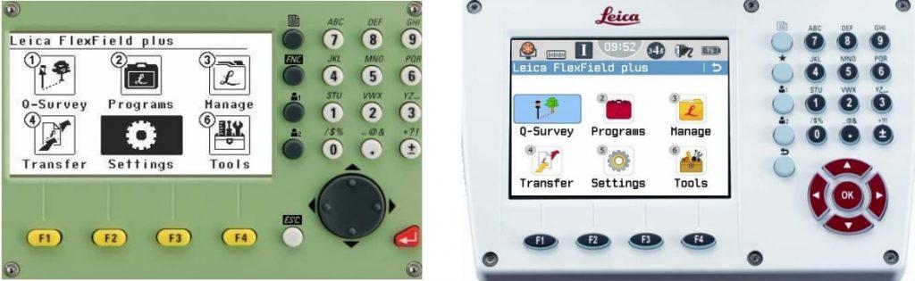 Màn hình máy toàn đạc leica flexline ts06plus và leica flexline ts09plus